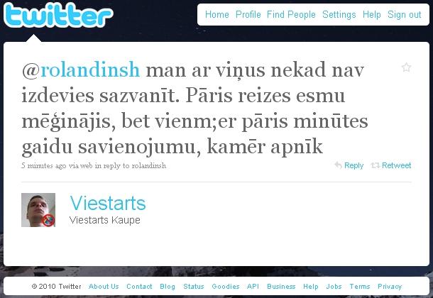 VID kontaktu centrs Twitter respond