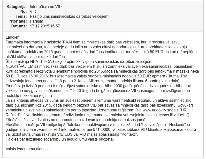 saimnieciskas darbības veicējiem 50 EUR samaksa